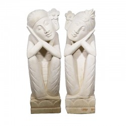 MAH 07 Estatua Piedra Pareja; 1 metro